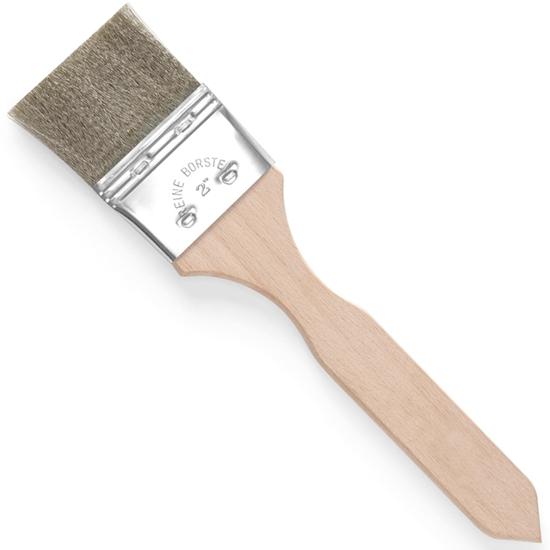 Pędzelek kuchenny do smarowania włosie z drutu nierdzewnego szeroki 50x220mm - HENDI 515396