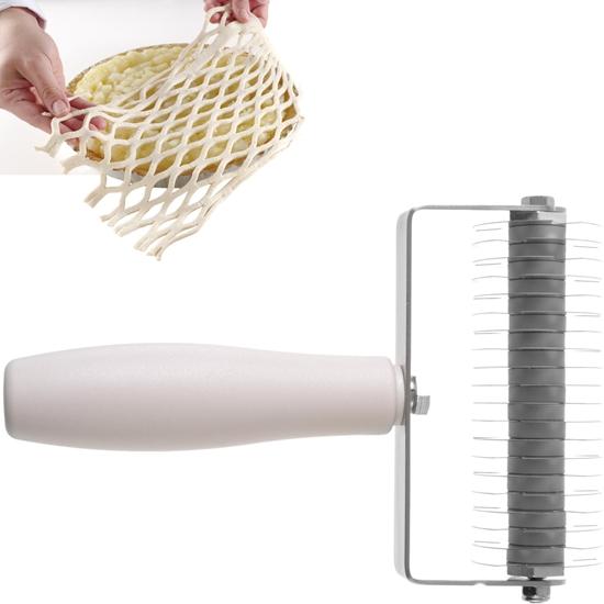 Rolka tnąca wałek do nacinania ciasta wzór siatki do tarty Profi Line 135x200mm - HENDI 515129