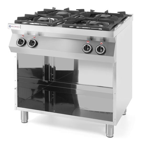 Kuchnia gazowa 4-palnikowa Kitchen Line na podstawie otwartej szer. 800mm gł. 700mm