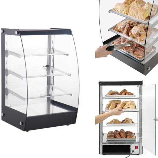 Witryna neutralna samoobsługowa do prezentacji i wydawania potraw LED szer. 415mm