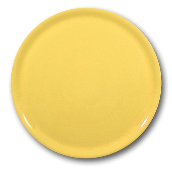 Wytrzymały talerz do pizzy z porcelany Speciale żółty 330mm - zestaw 6szt.