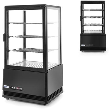 Witryna chłodnicza cukiernicza 3 półki 68L LED - czarna