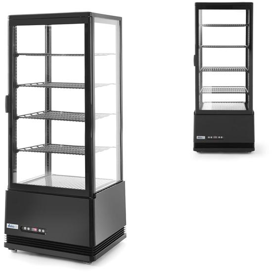 Witryna chłodnicza cukiernicza 4 półki 98L LED - czarna