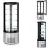 Witryna chłodnicza cukiernicza okrągła 4 półki LED 360L