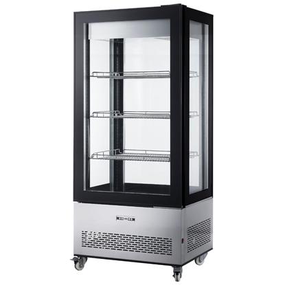 Witryna chłodnicza cukiernicza na kółkach 3 półki LED 550L