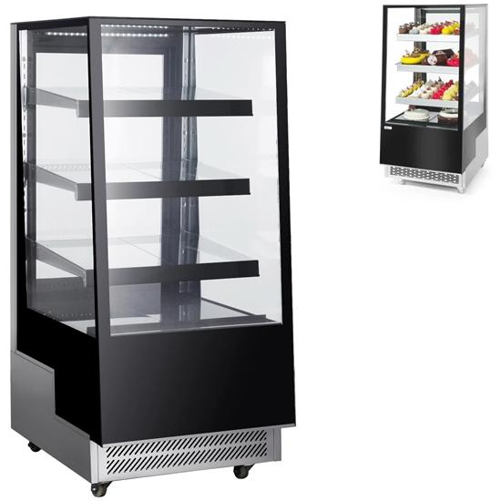 Witryna chłodnicza cukiernicza 3-półkowa jezdna LED 300L