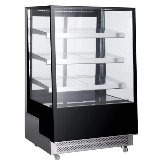 Witryna chłodnicza cukiernicza 3-półkowa jezdna LED 500L
