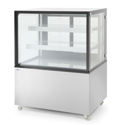 Witryna chłodnicza cukiernicza 2-półkowa jezdna LED 610L