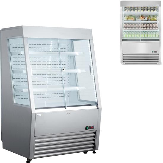 Regał chłodniczy cukierniczy przyścienny do sklepu cukierni 3 półki LED 320L