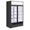 Witryna szafa chłodnicza z podświetlanym panelem reklamowym 750L