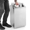 Kosz na śmieci stojący ze stali nierdzewnej z pokrywą obrotową 43L
