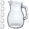 Dzbanek szklany BISTROT 1L - zestaw 6szt.