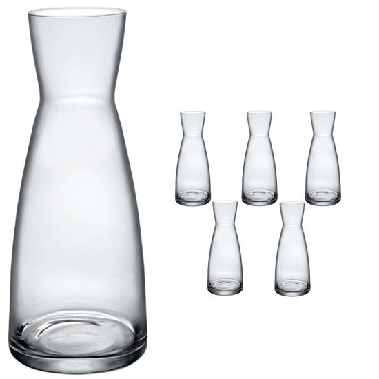 Karafka do wina wody lemoniady YPSILON 1L - zestaw 6szt.