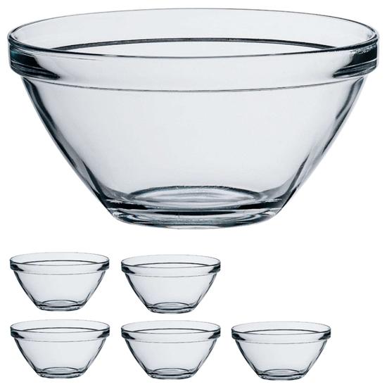 Salaterka miseczka szklana POMPEI 570ml - zestaw 6szt.
