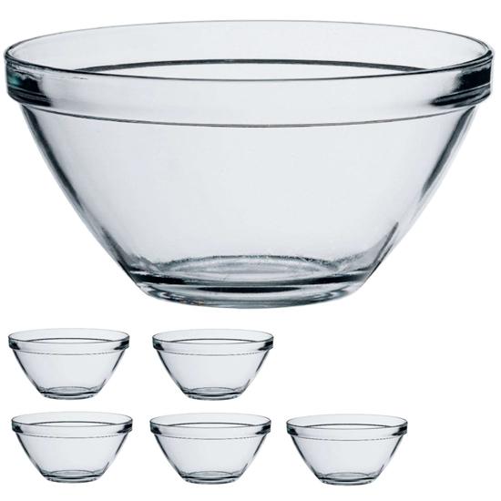 Salaterka miseczka szklana POMPEI 2.45L - zestaw 4szt.