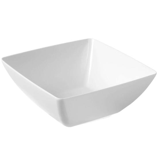 Miska kwadratowa z melaminy do żywności biała 27x27cm