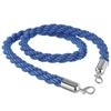 Lina sznur do słupków odgradzających niebieska ze srebrnymi karabińczykami dł. 1.5m