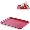Taca z polipropylenu Fast Food 30.5x41.5cm - czerwona