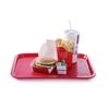 Taca z polipropylenu Fast Food 35x45cm - czerwona