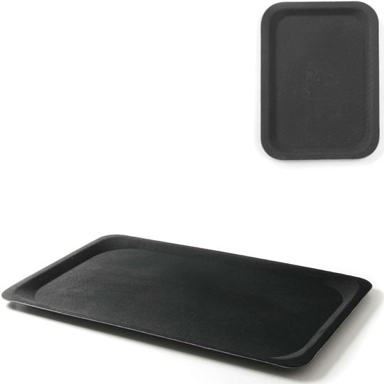 Taca kelnerska antypoślizgowa EN EURONORM 37x53cm - czarna