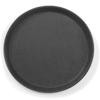 Taca kelnerska antypoślizgowa okrągła śr. 35cm - czarna