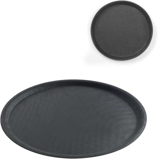 Taca kelnerska antypoślizgowa okrągła śr. 46cm - czarna