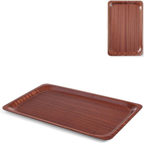 Taca kelnerska drewniana antypoślizgowa 33x43cm