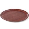 Taca kelnerska drewniana antypoślizgowa - okrągła śr. 38cm