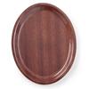 Taca kelnerska drewniana antypoślizgowa - owalna 20x26.5cm