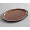 Taca kelnerska drewniana antypoślizgowa - owalna 23x16cm