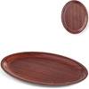 Taca kelnerska drewniana antypoślizgowa - owalna 29x21cm