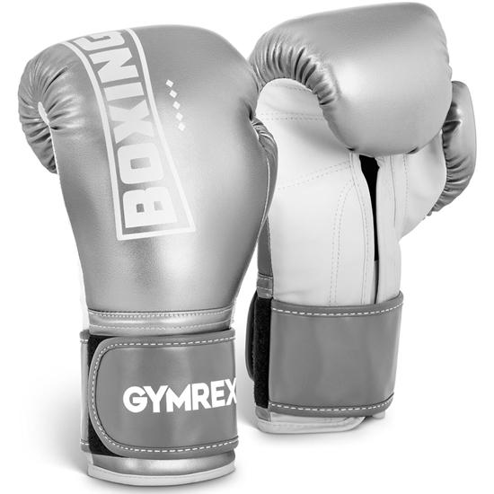 Rękawice bokserskie treningowe 12 oz srebrne