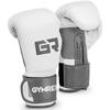 Rękawice bokserskie treningowe 10 oz biało-szare
