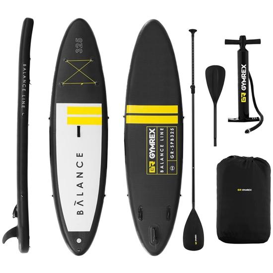 Deska do pływania SUP pompowana z akcesoriami Balance Line 145 kg czarna