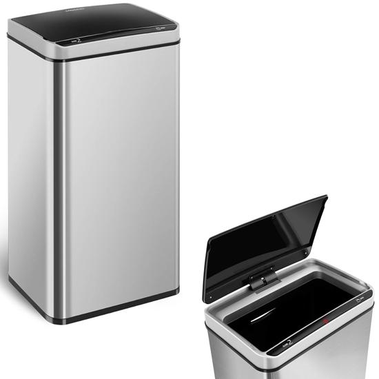 Automatyczny bezdotykowy kosz na śmieci z czujnikiem ruchu zasięg 20 cm 70 L