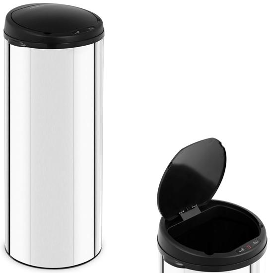 Automatyczny bezdotykowy kosz na śmieci z czujnikiem ruchu zasięg 20 cm 50 L