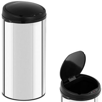 Automatyczny bezdotykowy kosz na śmieci z czujnikiem ruchu zasięg 20 cm 40 L