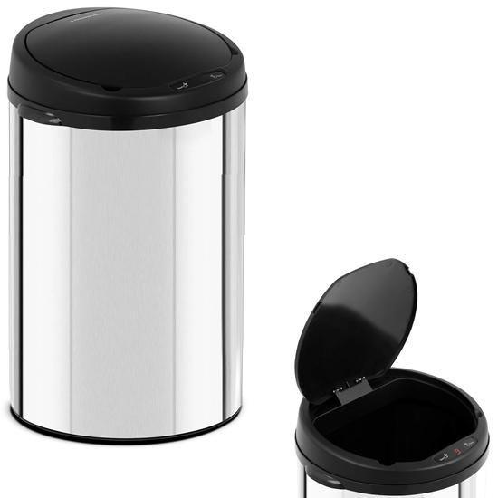 Automatyczny bezdotykowy kosz na śmieci z czujnikiem ruchu zasięg 20 cm 30 L