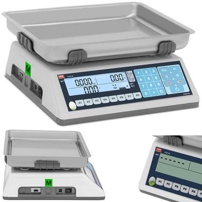 Waga sklepowa handlowa interfejs RS232 PLU 30 kg / 10 g LCD M LEGALIZACJA