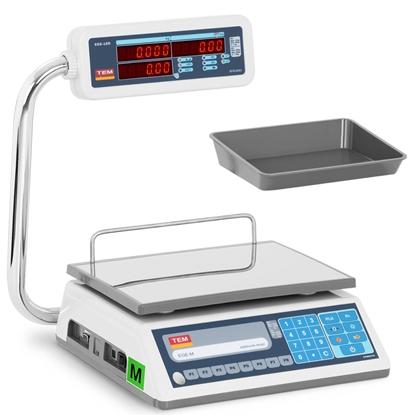 Waga sklepowa handlowa interfejs RS232 PLU 30 kg / 0,01 kg LED M LEGALIZACJA