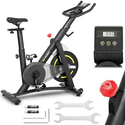 Rower spinningowy treningowy stacjonarny 13 kg LCD Gymrex GR-MG13