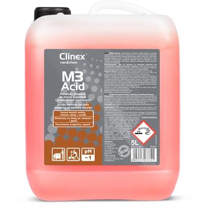 Koncentrat kwaśny płyn do mycia łazienek pomieszczeń sanitarnych CLINEX M3 Acid 5L