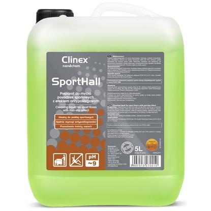 Płyn do mycia PCV linoleum parkietu w halach sportowych antypoślizgowy CLINEX SportHall 5L