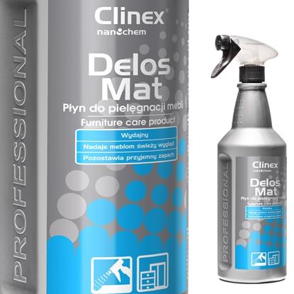 Płyn do pielęgnacji mebli drewnianych usuwa kurz brud CLINEX Delos Mat 1L