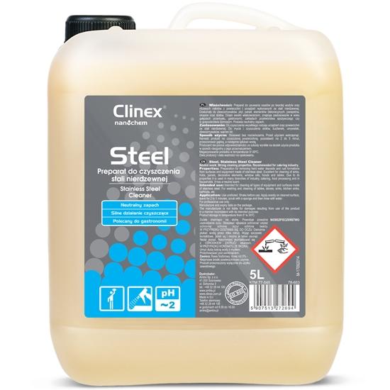 Płyn do mycia mebli i urządzeń ze stali nierdzewnej CLINEX Gastro Steel 5L