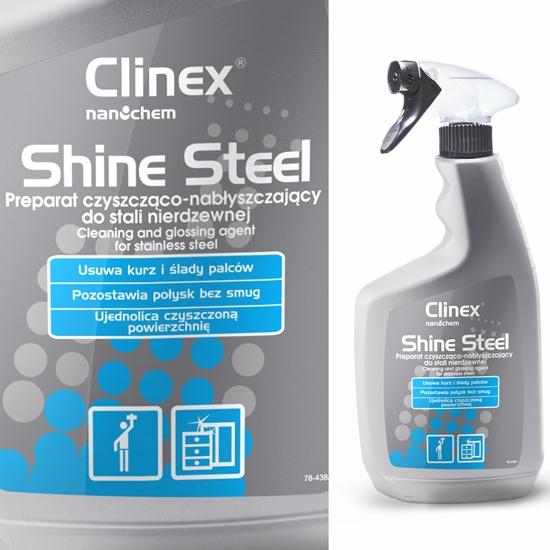 Preparat do czyszczenia i nabłyszczania mebli i urządzeń ze stali nierdzewnej CLINEX Shine Steel 650ML