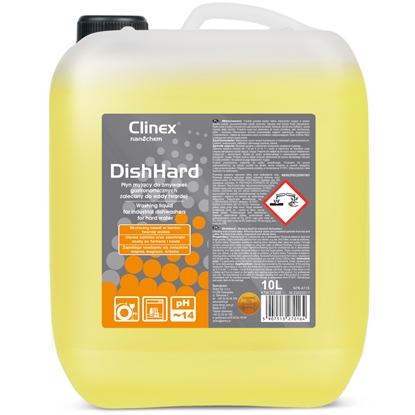 Płyn do zmywarek gastronomicznych usuwa osady z kawy herbaty do wody twardej CLINEX DishHard 10L