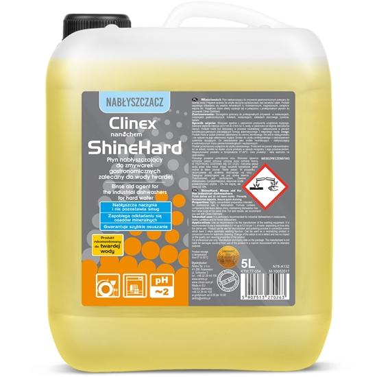 Nabłyszczacz płyn nabłyszczający do zmywarek gastronomicznych do wody twardej CLINEX ShineHard 5L