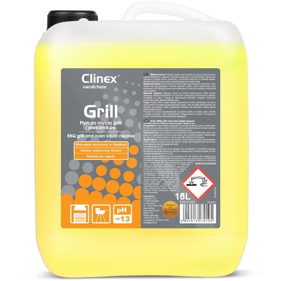 Skuteczny środek do mycia grilla rożna piekarnika wędzarni CLINEX Grill 5L