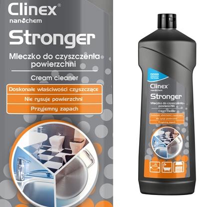 Mleczko do czyszczenia glazury stali urządzeń gastronomicznych CLINEX Stronger 750ML